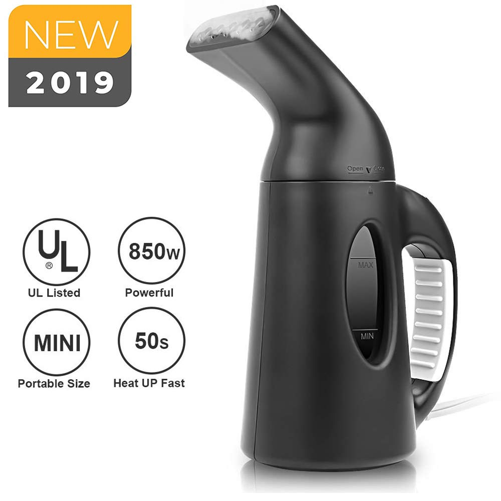 Lifeengine Mini Portable Garment Steamer Handheld Fabric Clothes Steam Iron Wrinkle Remover 150ml Capacity 850W Fast Heat-up for Travel Size Home Kitchen Bathroom