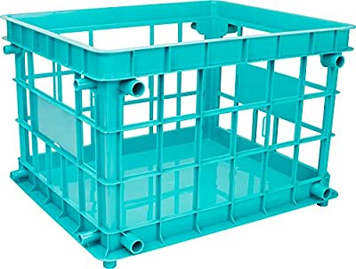 Storex Standard Letter/Legal File Crate, Teal (Case of 3)