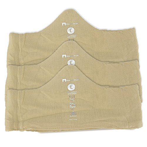 Keep Cool & Dry Bamboo Under-Bra Liners (Beige, L) - Natural, thermoregulating, ()
