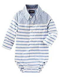 OshKosh B'gosh Baby Boys' Striped Button Down Bodysuit