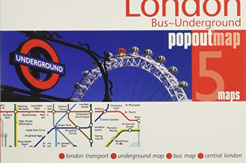 London Bus & Underground PopOut Map (PopOut - Of Map London Underground