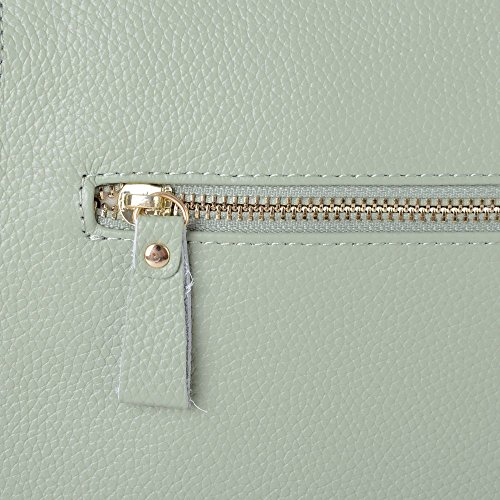 Crossbody Leather External Pocket Zipper Shoulder 100 with Genuine Strap Bag OaEnPqw
