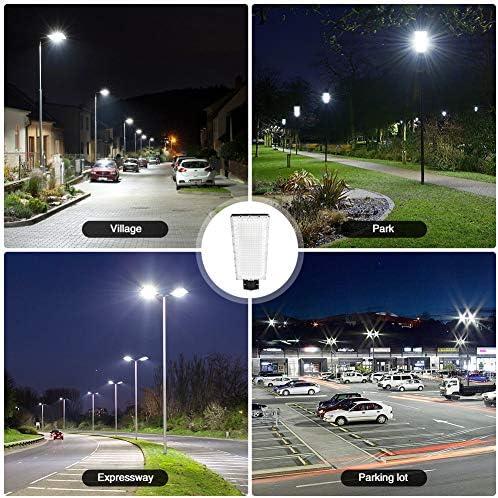 Mastleuchte, 300W 27000LM LED Straßenlaterne, IP66 Wasserdicht LED Straßenlampe, Hofbeleuchtung, Wegeleuchte für Garten Weg Beleuchtung, Im Freien Straßenbeleuchtung, Basketball Court, Parkplatz (1er)
