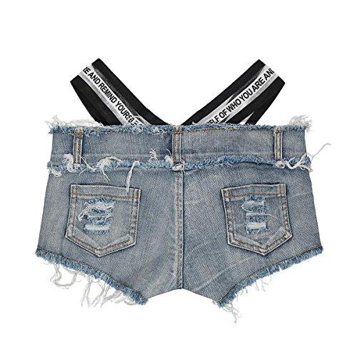 Summer de de Altura Vestir Club Go Pantalones Black de Easy Sexy Shopping Baja Cortos Mujer Vaqueros Night qEOgZPwC