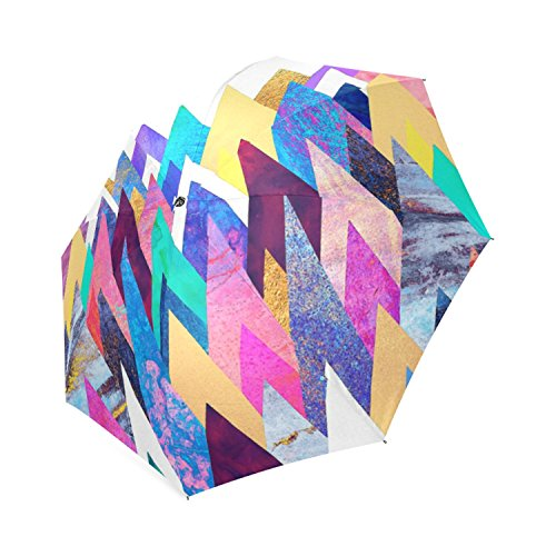 Custom Enchanted Mountains 8 Ribs Folding Waterproof Umbrellas