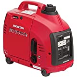 Honda Super Quiet Gasoline Portable Generator with Inverter (1000Watt with Eco-Throttle and Oil Alert)