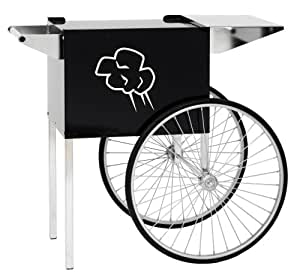Paragon Contempo Medium Popcorn Cart for 6 and 8-Ounce Poppers (Black)
