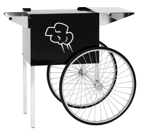 - Paragon - Manufactured Fun Contempo Medium Popcorn Cart for 6 and 8-Ounce Poppers (Black)
