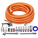 Tool Daily Air Compressor Kit, 3/8'' X 25 FT Hose, 18 Pieces Air Tool Accessories, 1/4'' Fitting