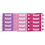 Mabel's Labels 40845103 Peel and Stick Personalized Labels with the Name Abigail and Flower Icon, 45-Count
