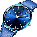 KASHIDUN Men's Watches & Women's Watch Luxury Quartz Wristwatches Small Dial Waterproof Navy Blue Color 582-QL