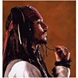 Pirates of the Carribean Captain Jack Sparrow Johnny Depp Playing with his Facial Hair 8 x 10 Photo