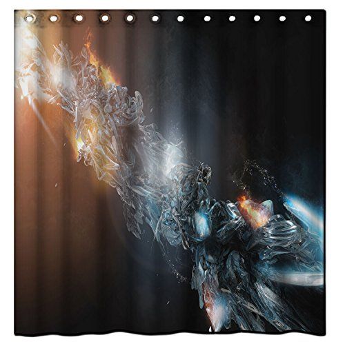 MAYTEX Water Repellent Fabric Shower Curtain or Liner, Machine Washable