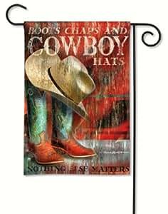 Magnet Works, Ltd. Cowboy Boots Garden Flag MAIL32314D
