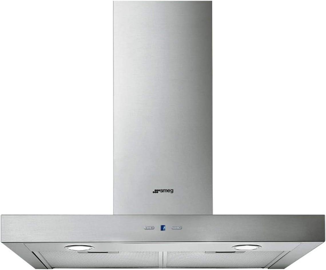 Smeg KAT600HXE De pared Acero inoxidable 750m³/h B - Campana (750 m³/h, B, A, D, 62 dB, 46 dB): 229.13: Amazon.es: Hogar