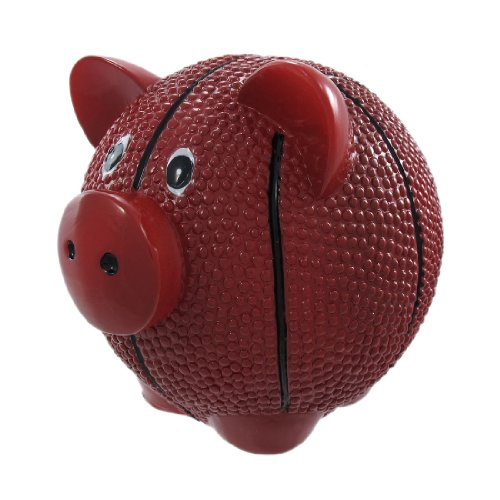 Funny Basketball Pig Piggy Bank Sports by King Max Products
