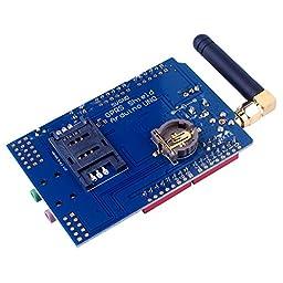 Kuman SIMCOM SIM900 GSM GPRS Quad-Band Modules 2G Development Shield Board for Arduino UNO R3 Mega with antenna and Nano Sim Adapter