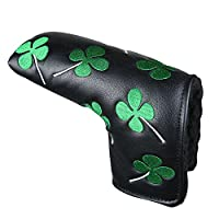 White Green Shamrock Lucky Clover Putter Head Cover Four Leaf Clover Headcover For Scotty Cameron Ping Odyssey Taylormade