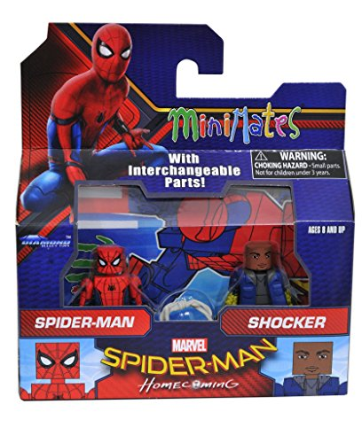 Marvel Minimates Series 73 Spider-Man Homecoming Movie Spider-Man & Shocker 2-Pack