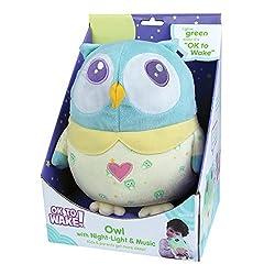Mirari OK to Wake! Owl with Night-Light and Music