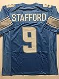Unsigned Matthew Stafford Detroit Blue Custom Stitched Football Jersey Size XL New No Brands/Logos