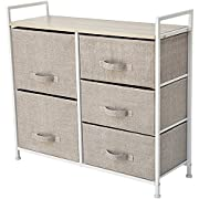 "Storage Cube Dresser – Organize your Nursery, Bedroom, or Play Room with this Fabric Bin Storage Unit – Simple, Lightweight, Durable (Size: 32.6"" x 11.4"" x 30.3"")"