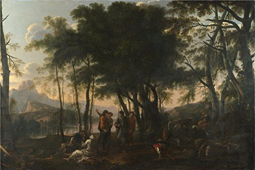 The Polyster Canvas Of Oil Painting 'After Salvator Rosa The Philosophers' Wood ' ,size: 20 X 30 Inch / 51 X 76 Cm ,this Amazing Art Decorative Canvas Prints Is Fit For Hallway Decoration And Home Decor And