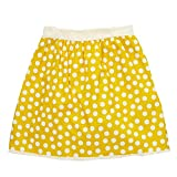 Little Miss Fashion Big Girls Yellow Ivory Polka Dotted Pattern All Over Cotton Skirt 7