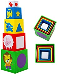 Happy Cocolion Educational Sorting & Stacking Toys with Numbers & Shapes for Toddlers, Boy, Gi