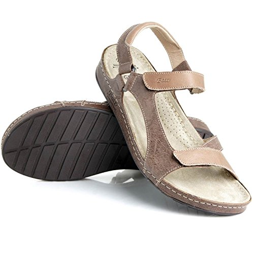 Batz Tara Damen Hochwertigem Sommer Sandaletten, Sandalen, Lederschuhe, Schuhe Marmo