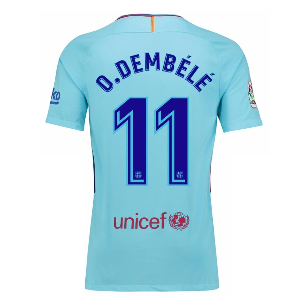 2017-2018 Barcelona Away Football Soccer T-Shirt Camiseta (Ousmane Dembele 11): Amazon.es: Deportes y aire libre