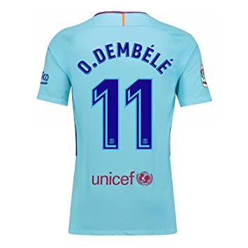 2017-2018 Barcelona Away Shirt (O Dembele 11) - Kids