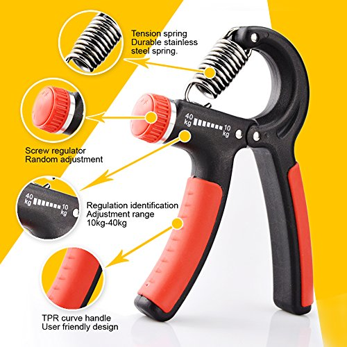 Hand Grip Strengthener Best Hand Exerciser Strength Trainer Adjustable Resistance 22 88 Lbs ,Gripper For Finger Grips, Forearm Exercise and Rock Climbing Workout