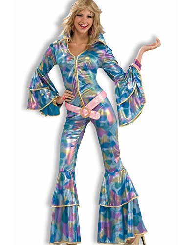 Best 70s Costumes - Forum Novelties Women's Disco Momma 70's Costume, Blue, X-Small/Small