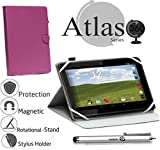 Navitech Purple Case/Cover with 360 Rotational Stand & Stylus Pen for The RCA pro 10 Edition Tablet