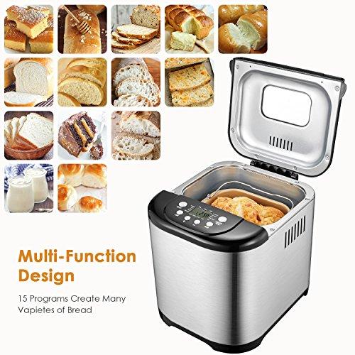 Review Automatic Bread Machine, Aicok