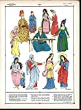 Womens Robes Orient c.1920 vintage hand color female fashion print