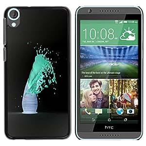 Paccase / SLIM PC / Aliminium Casa Carcasa Funda Case Cover para - Blue Color Splash - HTC Desire 820