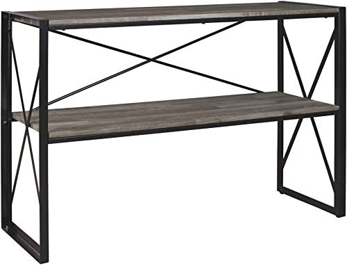 Signature Design by Ashley – Harzoni Console Table, Grayish Brown