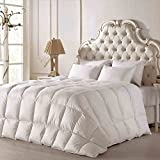 Rose Lightweight 100% Washed White Goose Down CAL King Size Comforter ,500 Thread Count Organic Cotton Cover ,750+ Filling Power