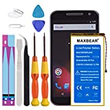 Moto G4 Plus Battery, MAXBEAR [3300mAh] Li-Polymer Built-in Battery SNN5966A SNN5970A GA40 Replacement for Motorola Moto G4 Plus XT1641 XT1642 XT1643 XT1644 with Repair Tool Kits [24 Month Warranty]