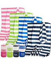 Sfee Microfiber Sport Travel Towel Set -(S M L XL)-Quick Dry Absorbent Compact Lightweight Soft Beach Yoga Bath Pool Hand Gym Golf Towels-Fit for Outdoors Fitness Hiking Camping +Carabiner