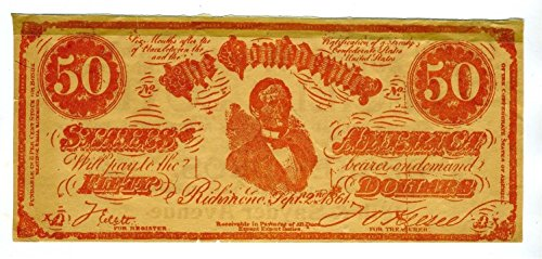 1914 Lucille Love Movie Promotional Flyer on a Confederate States $50 Bill (Promotional Flyer)