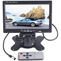 Docooler 7 Inches TFT Color LCD Car Rear View Camera Monitor Support Rotating The Screen and 2 AV Inputs