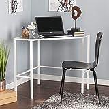 Cheap Harper Blvd Kemble Metal/Glass Corner Desk – White