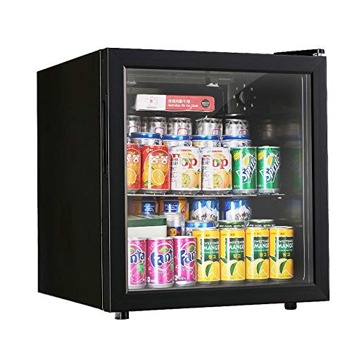 Thermostat Wine Cooler Home Ice Bar Small Fresh Storage Cabinet Refrigerated Tea Cabinet Refrigerator Wine Cooler (Color : Black, Size : 4744.550.1cm)