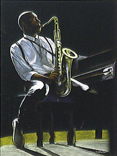 1art1 Posters: R. Alvarez Poster Art Print - Jazz Club, Solo (28 x 20 inches)