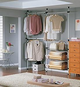 sobuy teleskop garderoben system b nicht so unstabil wie es aussieht. Black Bedroom Furniture Sets. Home Design Ideas
