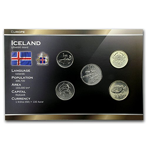 IS 2001 - 2008 Iceland 1-100 Kronur Coin Set Unc About Uncirculated
