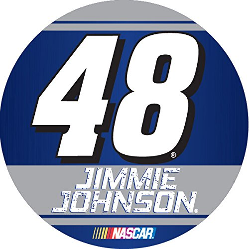 "Jimmie Johnson #48 2016 Traditional DECAL 4"" Round Vinyl Auto Home Nascar Racing"